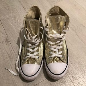 Gold Converse High Top